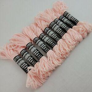 Needloft Yarn Baby Pink Lot of 10 Skeins Nylon Plastic Canvas 100 Yd Vtg 4 AVAIL