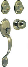 Entrance  Door Lock &  Handle set (  antique brass finish )
