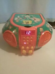 Nickelodeon The Singing Machine Music CD Player SpongeBob Rugrats 2002 Excellent