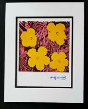 ANDY WARHOL ORIGINAL 1984 SIGNED NUMBERED FLOWERS PRINT MATTED 11X14