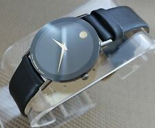 AUTH SWISS MOVADO SAPPHIRE CLASSIC ULTRA THIN PVD CASE MODEL#0601635 MEN'S WATCH