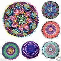 Bohemian Mandala Floor Pillows Round Cushion Cushions Pillows Cover Case Decor