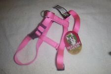 New Dog Harness, Adjustable Top Paw PINK Size Medium or Small