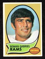 "1970 Topps #100 Roman Gabriel Los Angeles Rams QB Football Card  ""mrp""  EX+"