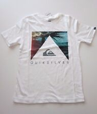 Quiksilver Big Boys L Short Sleeve T-Shirt Tee White Hangloose Graphic Hawaii