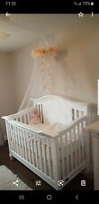 Pottery Barn Kids Monique Lhuillier Blush Pink Ethereal Tulle Crib Bedding