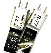RC 40 MHZ 40.770 fm crystal tx & rx transmetteur & récepteur cristaux 40mhz