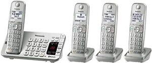 "Panasonic KX-TGE474S 1.9GHz, 4 Handsets 1.8""  LCD, Long Range Cordless Phone"