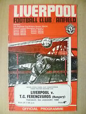 Inter Cities Fairs Cup 3rd RD 2nd Leg LIVERPOOL v FERENCVAROS (HUNGARY) 9/1/1968