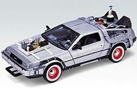 WELLY TY3651 TY4174 22441F BACK TO THE FUTURE De Lorean Time Machine model 1:24