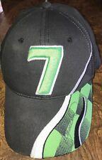 DANICA PATRICK Autographed Green Black White #7 Adjust Hat Ball Cap New