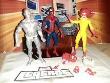 MARVEL LEGENDS SPIDERMAN AND HIS AMAZING FRIENDS 3 FIGURE LOT
