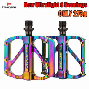 "PROMEND Ultralight Mountain Bicycle Pedal MTB Road Bike Pedal 3 Bearing 9/16"""