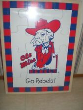 NCAA College University Football Ole Miss Rebels Baby Fanatic Real Wood Puzzle