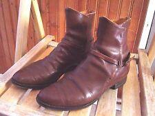 VINTAGE Ankle Boots~Buckle Strap~Mens~Monk Strap~60s~Beatle~ 6.5 - 7