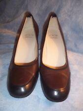 Joan & David Circa heels, brown & black, size 9M