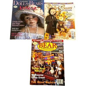 Australian Dolls Bears Collectable Magazine Vol 2 No 3 1997 Vol 7 No 8 2000 1998