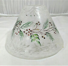 Yankee Candle Frosted Pine Crackle Glass Large Shade Topper