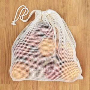 Mesh/Produce Reusable Cotton Bags for Fruit/Vegetables with Drawstring LOT