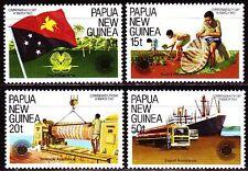 Papua-Neuguinea 1983 ** Mi.459/62 Flagge Schiff Commonwealth Day [sq1968]