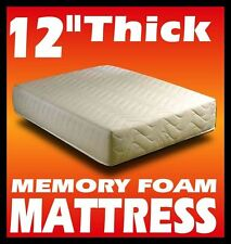 """12"""" inch DOUBLE 4ft6"""" BED SIZE MEMORY FOAM MATTRESS  + FREE COVER + FREE POSTAGE"""
