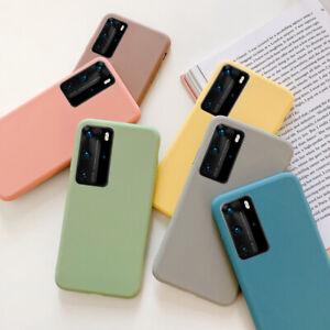 For Huawei P40 P30 P20 Pro Mate 30 20 Lite Matte Soft Silicone Rubber Case Cover