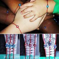 3 pc Evil Eye Mal de Ojo Red String Bracelets Luck Protection Blessed Gift Hamsa