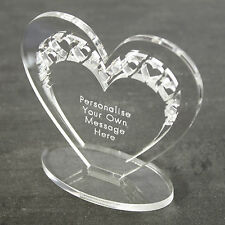 Personalised Heart Message Ornament Keepsake Birthday Anniversary Wedding Gift
