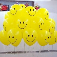 """12"""" X 10 Smiley Face Balloons balloons Helium Quality For Birthday Kids Party"""