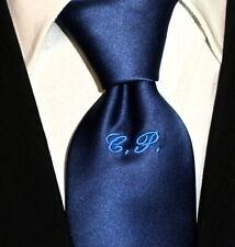 Cravatta o cravattino tinta unita blu rossa grigia nera anche con iniziali
