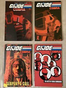 G.I. Joe Cobra Vol. 1-4 TPBs Lot In Brand New Condition - 4 Books Total