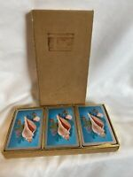 Vintage Congress Playing Cards 3-Decks, Shells deck complete
