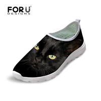 Black Cat Womens Smart Casual Fashion Breathable Sneakers Running Sport shoes