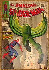 AMAZING SPIDERMAN 48 F+/VF- 7.0 RARE KEY VULTURE STAN LEE JOHN ROMITA SR.