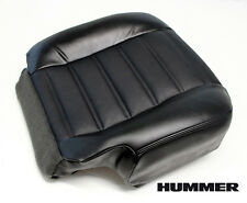 2006 Hummer H2 Spare Tire Carrier SUT SUV Driver Bottom Leather Seat Cover Black