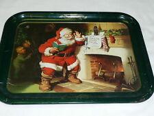 Vintage 1983 Coca-Cola Santa Claus & Children Fireplace Sundblom Christmas Tray