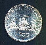 REPUBBLICA ITALIANA 500 Lire Caravelle 1994  FDC