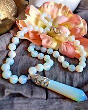 Collana e Pendente Pietra Opalite con Opale di Guarigione Esagonale Reiki 43cm