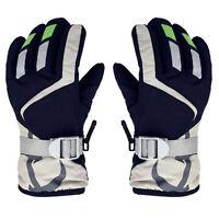 Children Winter Warm Kids Ski Snowboard Gloves Mittens W/Adjustable Strap New