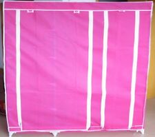 1X New 5-Shelves Storage Wardrobe w/Curtain Cover Hot Pink