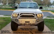 GRIZZLY'S WINCH PLATE BUMPER FOR 95-04 TOYOTA TACOMA w/o Body Lift Raw Metal