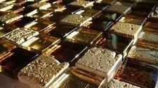 Glasmosaik Fliesen DUBAI GOLD STONE METALLOPTIK glänzend 8mm Naturstein Glas