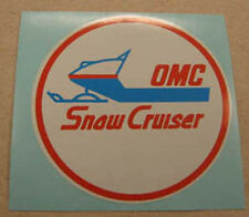 Snow Cruiser 1970 round reproduction vintage decals / stickers