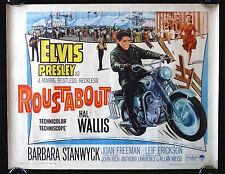 ROUSTABOUT * CineMasterpieces MOVIE POSTER 1964 ELVIS PRESLEY BIKER MOTORCYCLE