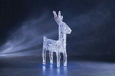 Décoration de Noël Noël Lampes LED GLACE BLANC ACRYLIQUE tissé debout Renne