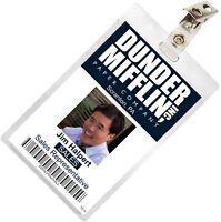 The Office ASIAN Jim Halpert Dunder Mifflin ID Badge Cosplay Name Tag TO-13
