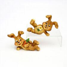2x poli Conejo de Pascua SET 7,5 cm decoración pasuca CÓMIC 25129