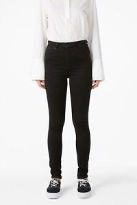 Brand New Women Ladies Monki Oki Slim/Skinny High Waist Black jeans All Sizes.