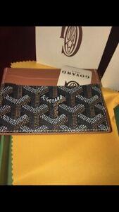Brand New Goyard  Black Brown Classic Card Holder Wallet Cardholder