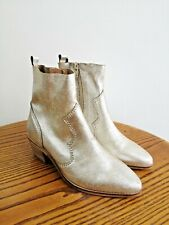 Metallic Leather Cowboy Boots. UK 3. Western. Boho. NEW WITH TAGS. Girls Boots